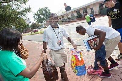 Students move in to their Dorms at the University of North Carolina at Pembroke on Monday, August 18th, 2014. move-in-2014_0025.JPG
