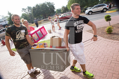Students move in to their Dorms at the University of North Carolina at Pembroke on Monday, August 18th, 2014. move-in-2014_0003.JPG