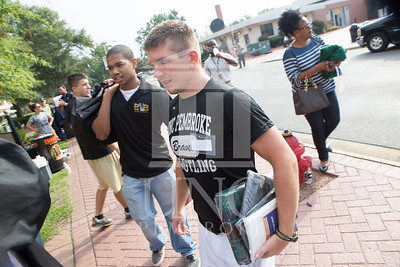 Students move in to their Dorms at the University of North Carolina at Pembroke on Monday, August 18th, 2014. move-in-2014_0016.JPG