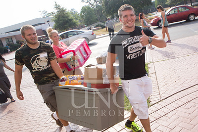 Students move in to their Dorms at the University of North Carolina at Pembroke on Monday, August 18th, 2014. move-in-2014_0002.JPG