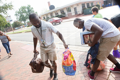 Students move in to their Dorms at the University of North Carolina at Pembroke on Monday, August 18th, 2014. move-in-2014_0024.JPG