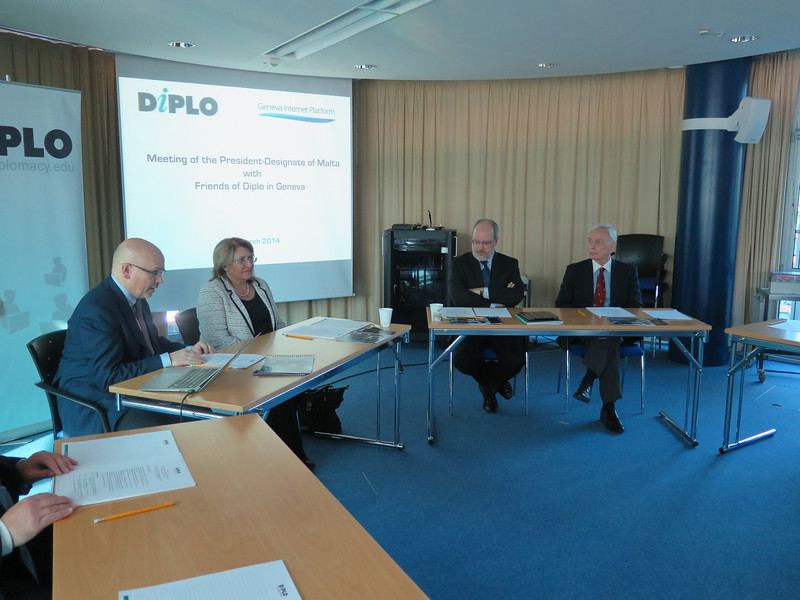 Meeting of The President-Designate of Malta with Friends of Diplo in Geneva
