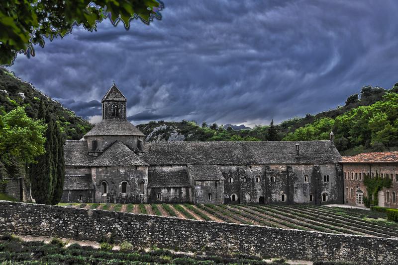 HDR of the Abbaye Notre-Dame de Sénanque