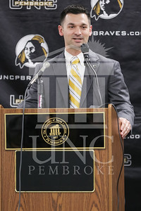 UNC Pembroke announces Shane Richardson as the new Head Football Coach at a press conference on Friday, February 21st, 2014. UNCP_Football_Coach_0020.JPG