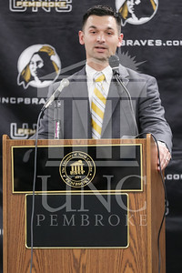 UNC Pembroke announces Shane Richardson as the new Head Football Coach at a press conference on Friday, February 21st, 2014. UNCP_Football_Coach_0025.JPG
