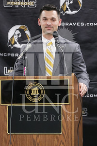 UNC Pembroke announces Shane Richardson as the new Head Football Coach at a press conference on Friday, February 21st, 2014. UNCP_Football_Coach_0018.JPG