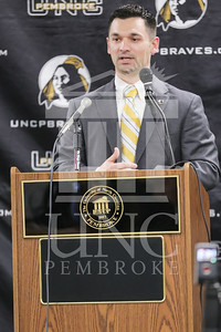 UNC Pembroke announces Shane Richardson as the new Head Football Coach at a press conference on Friday, February 21st, 2014. UNCP_Football_Coach_0037.JPG