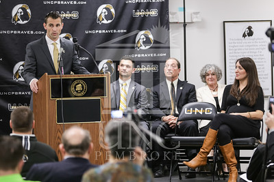 UNC Pembroke announces Shane Richardson as the new Head Football Coach at a press conference on Friday, February 21st, 2014. UNCP_Football_Coach_0079.JPG