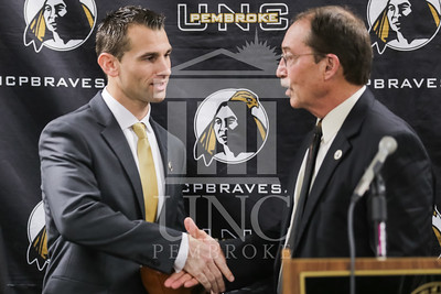 UNC Pembroke announces Shane Richardson as the new Head Football Coach at a press conference on Friday, February 21st, 2014. UNCP_Football_Coach_0066.JPG