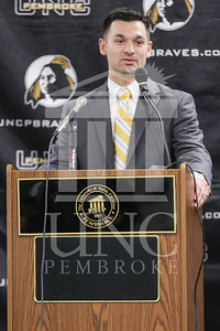 UNC Pembroke announces Shane Richardson as the new Head Football Coach at a press conference on Friday, February 21st, 2014. UNCP_Football_Coach_0026.JPG
