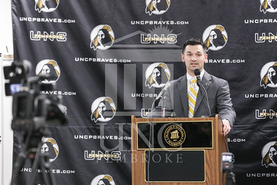 UNC Pembroke announces Shane Richardson as the new Head Football Coach at a press conference on Friday, February 21st, 2014. UNCP_Football_Coach_0032.JPG