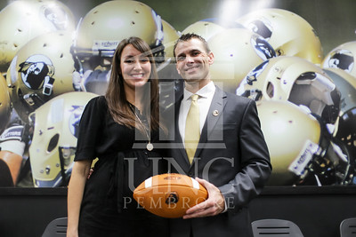UNC Pembroke announces Shane Richardson as the new Head Football Coach at a press conference on Friday, February 21st, 2014. UNCP_Football_Coach_0134.JPG