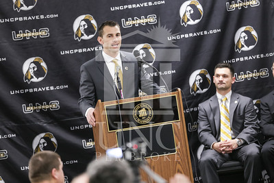 UNC Pembroke announces Shane Richardson as the new Head Football Coach at a press conference on Friday, February 21st, 2014. UNCP_Football_Coach_0083.JPG