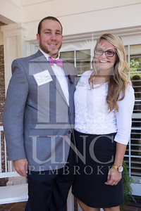 The University of North Carolina at Pembroke holds a Meet and Greet event for Student Organization Leaders at the Chancellor's Residence on Wednesday, August 27th, 2014. Student_org_leaders_0011.JPG
