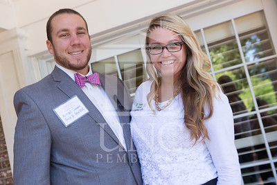 The University of North Carolina at Pembroke holds a Meet and Greet event for Student Organization Leaders at the Chancellor's Residence on Wednesday, August 27th, 2014. Student_org_leaders_0010.JPG