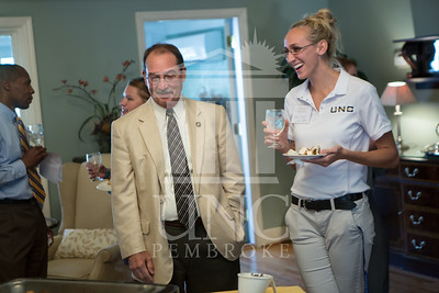 The University of North Carolina at Pembroke holds a Meet and Greet event for Student Organization Leaders at the Chancellor's Residence on Wednesday, August 27th, 2014. Student_org_leaders_0001.JPG