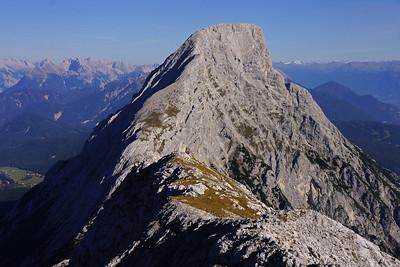 Den Ostgrat hoch auf den Karkopf (Mieminger Berge)