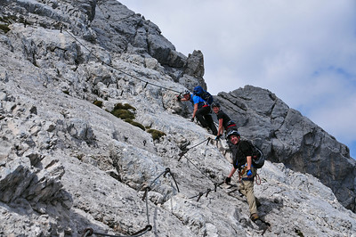 Alpspitz ferrata near Garmisch-Partenkirchen