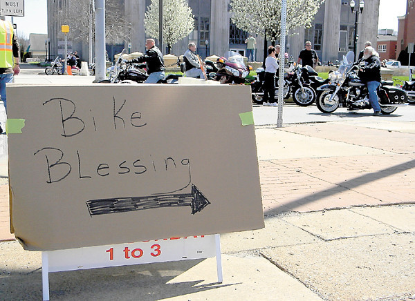 About 200 bikers — more than three times as many as last year's total — turned out Sunday for the second annual Blessing of the Bikes on Kennedy Square. The event is organized by Family Worship Center and the Christian Motorcycle Association.
