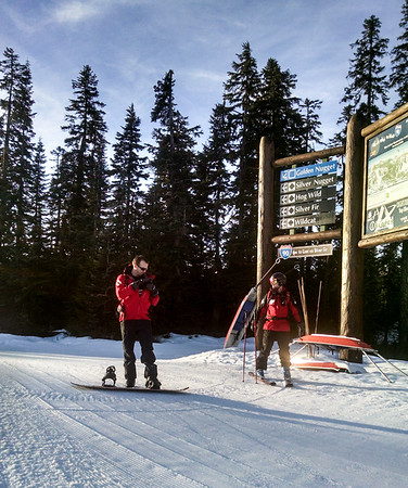 Patrollers at the top of Central Express