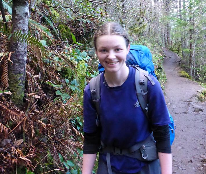Jennifer on the Rattlesnake Ledge trail.