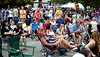 People at the Ambler Arts and Music Festival stake out their spots for the evening concerts early June 13, 2015.<br /> Bob Raines--Montgomery Media