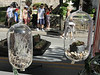 Blown glass terrariums hang on display at the Carolyn Powers Designs booth at the Ambler Arts and Music Festival Saturday, June 13, 2015.<br /> Bob Raines--Montgomery Media