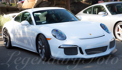 White Porsche 911 GT3 at Cars and Coffee April 2015
