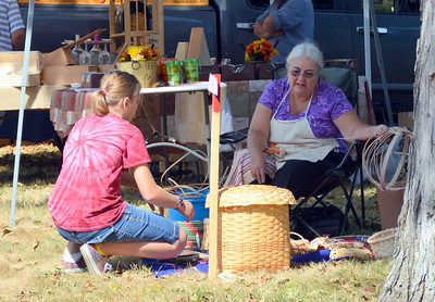 Sharon Maynard, a Mohegan Tribal member, joined us again this year to demonstrate her basket weaving.