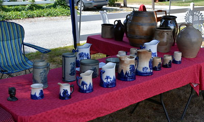 A selection of Sleepy Eye pottery as well as other pottery was on display.