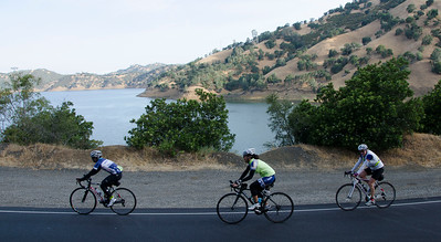Passing Monticello Dam (Lake Berryessa)