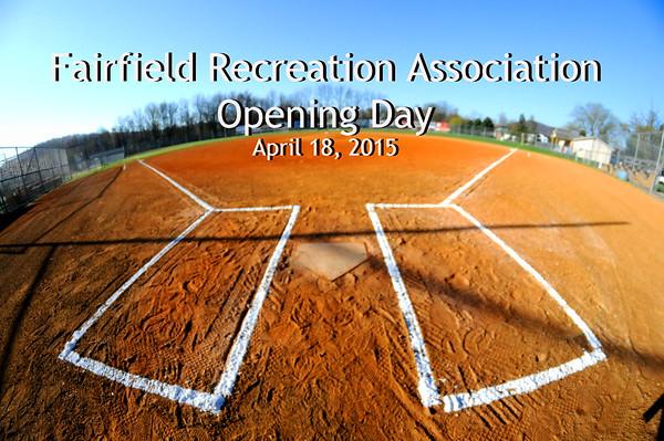 2015 Fairfield Baseball Opening