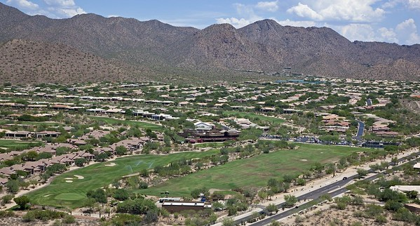 Ancala Country Club from the air looking northwest
