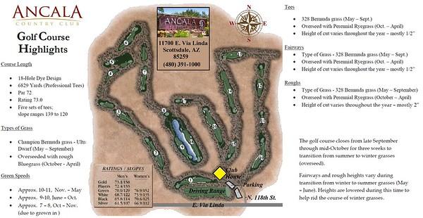 Ancala's golf course highlights
