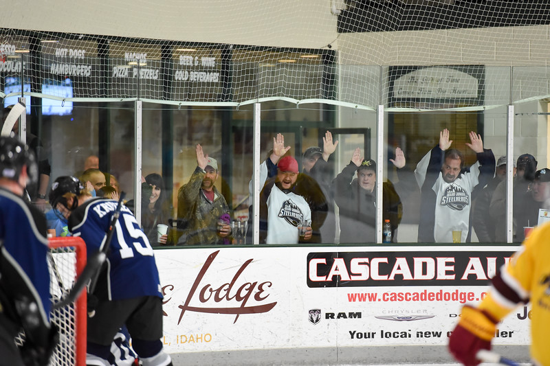 The window wapping Jr. Steelheads gallery had a good night on Friday with all the goals the Jr. Steelheads racked up.