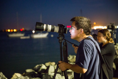 Ruihao Zhang photographs lunar eclipse from Shelter Island Sept. 27, 2015.