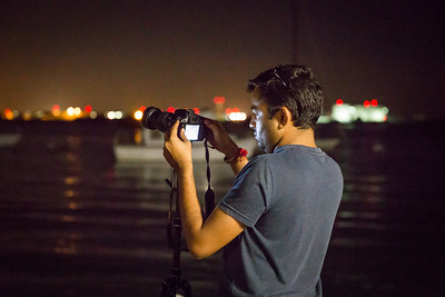 Arvind Chaudhari photographs lunar eclipse from Shelter Island Sept. 27, 2015.