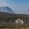 Smoke seeping over into Many Glaciers