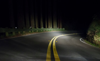 Somewhere on Mt Tam. In the dark. Thinking about coffee.