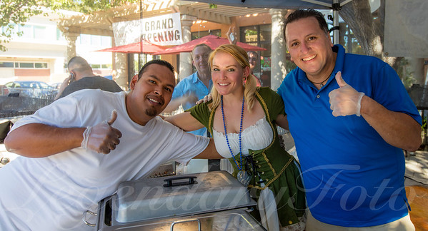 Pure Grain Team Cooking at Oktoberfest 2015