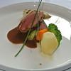 Pavé van rund met groenten boeket en Boursinsaus...