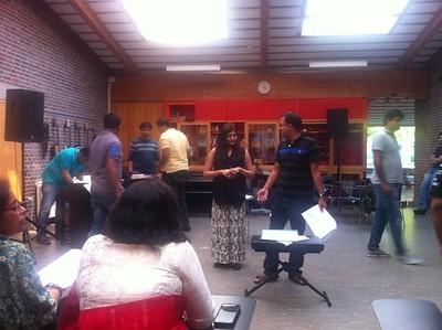 BID Durga Puja 2015 preparation: rehearsal