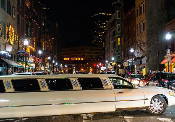 Limo too big for Hanover Street turn ... New Year's problems