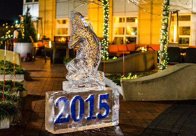 New Year's 2015 Cod Ice Sculpture at Battery Wharf