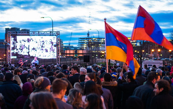 Cultural music and remembrance images were presented at Armenian Heritage Park