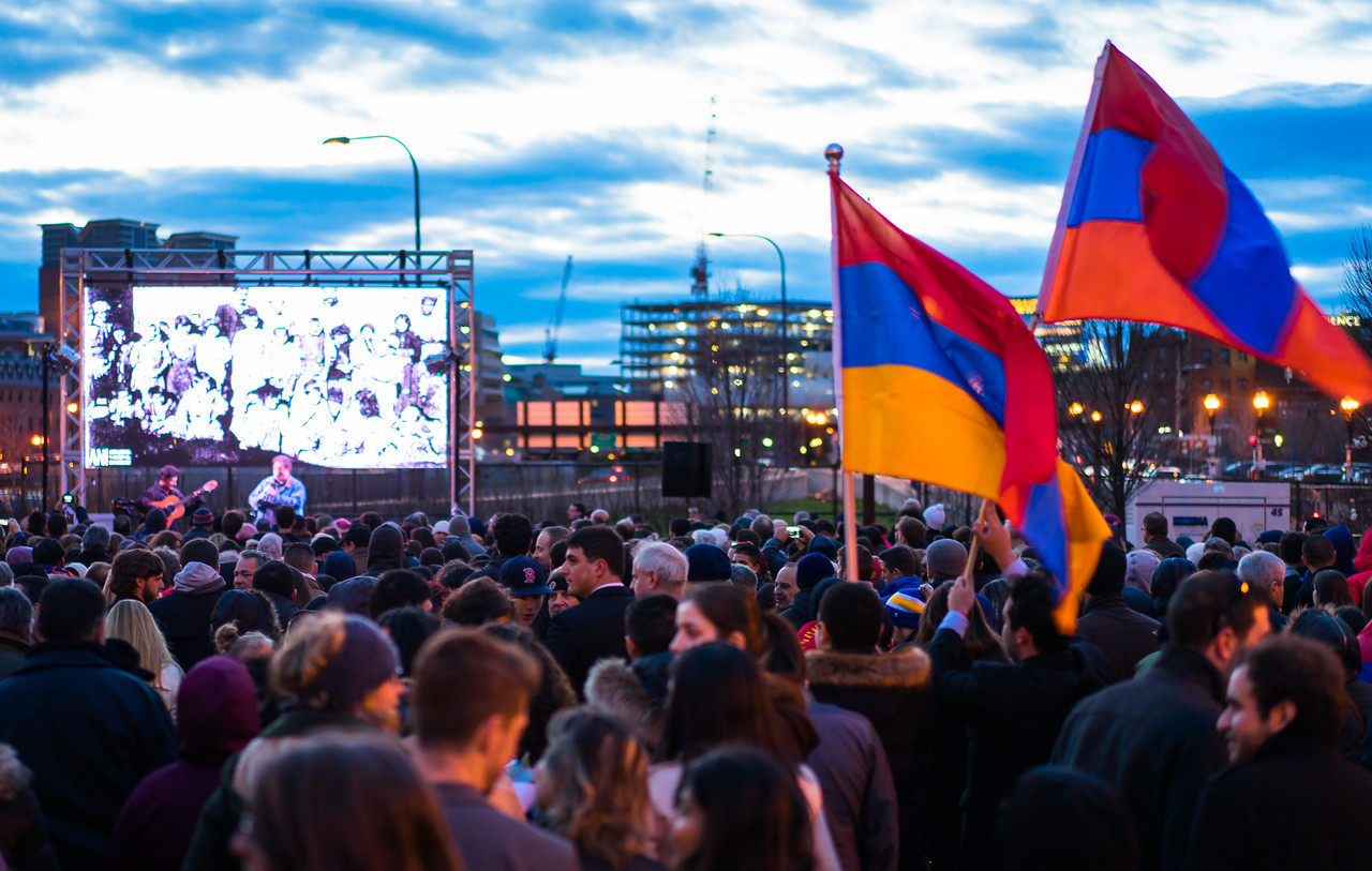 Cultural music and genocide images were presented at Armenian Heritage Park