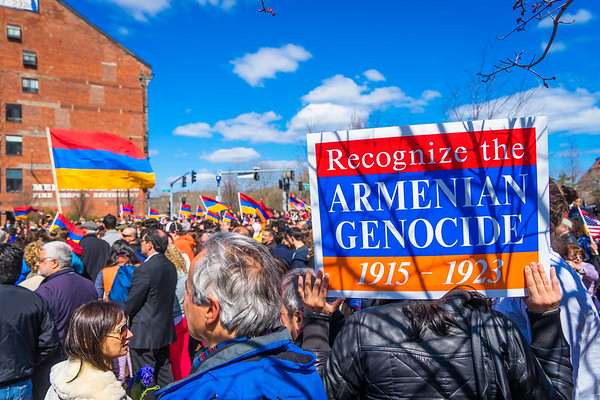 Signs to commemorate the Centennial of the Armenian Genocide