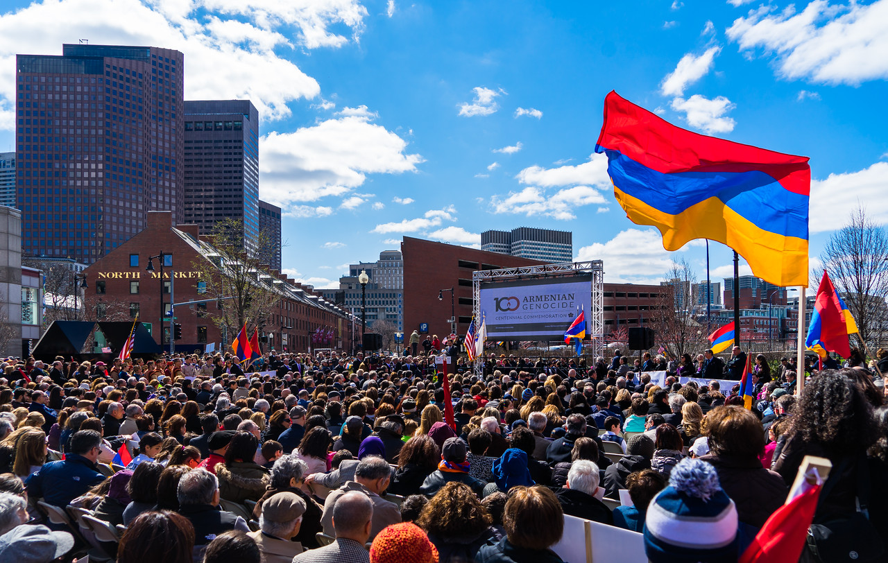 Over 3000 people gathered on the Greenway for the Armenian Genocide Centennial Commemoration