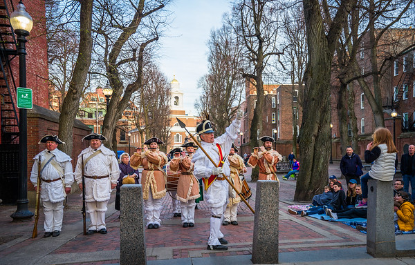 1st Michigan Colonial Fife and Drum Corps on the Prado