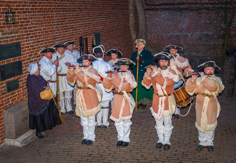 1st Michigan Colonial Fife and Drum Corps in the Old North Courtyard